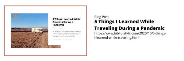 5 Things I l Learned Traveling During a Pandemic