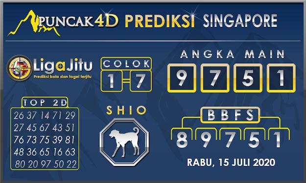 PREDIKSI TOGEL SINGAPORE PUNCAK4D 15 JULI 2020