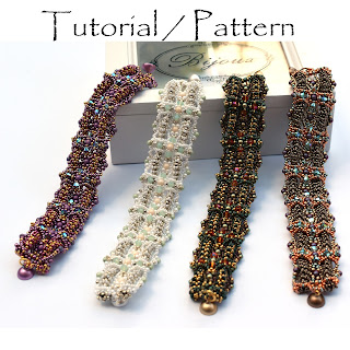 "Pattern / Tutorial for a beaded bracelet ""UpAndDown"" - Design by PrettyNett.de"