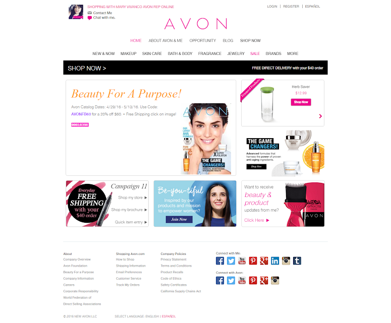 WELCOME TO MY AVON ESTORE