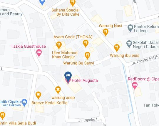 Map Letak Hotel Augusta Bandung