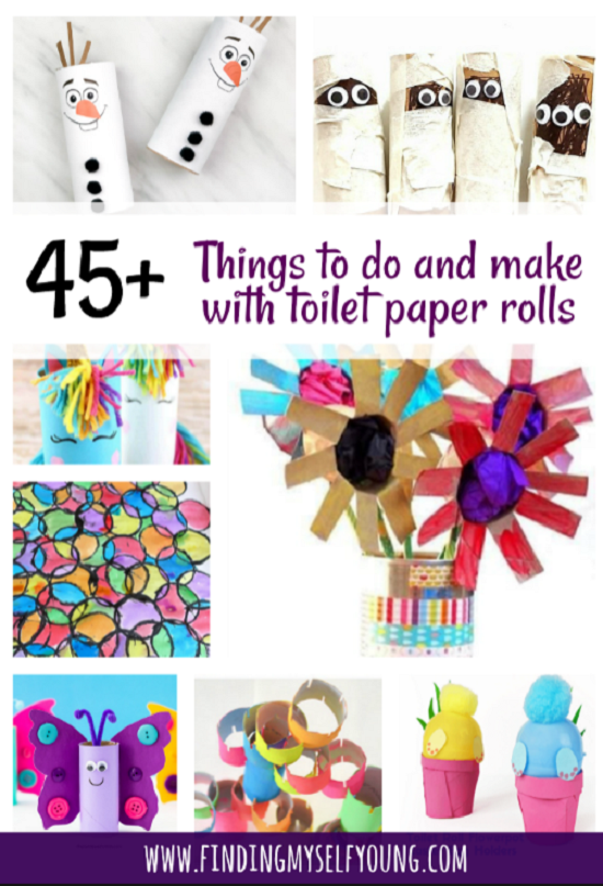 45 craft and toy ideas to make with toilet paper rolls