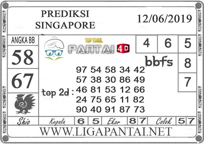 """Prediksi Togel """"SINGAPORE"""" PANTAI4D 12 JUNI 2019"""