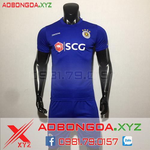 Áo Câu Lạc Bộ Hà Nội FC 2019 Màu Xanh Đậm