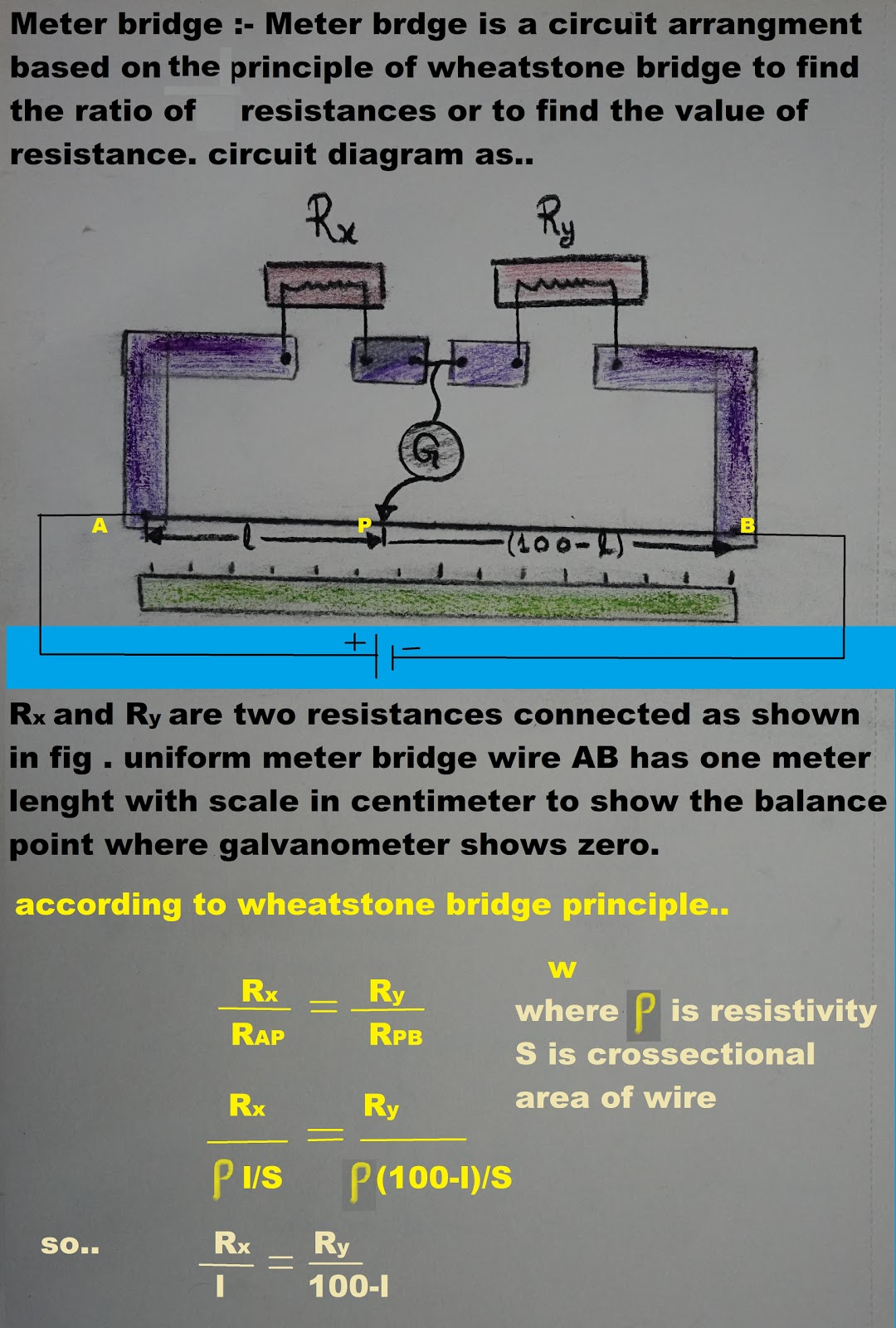 Vikram Singh Physics Assignment Meter Bridge Working S Circuit Diagram For Boar Exams
