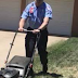 Above and beyond: AMS crew finishes mowing lawn for patient