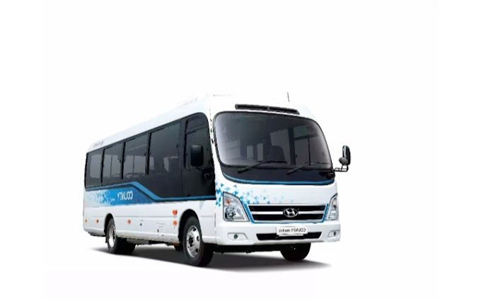 Hyundai has launched its first electric electric minibus county for the Korean market.
