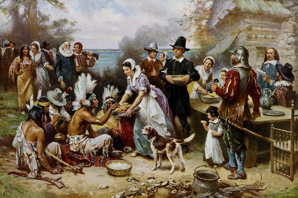 """""""The First Thanksgiving"""" –  by Jean Louis Ferris"""
