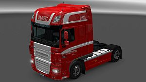 Limited Edition paint job for DAF 50keda