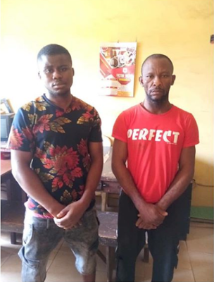 PHOTO: 2 Suspect arrested for stealing 7 cars at redemption camp
