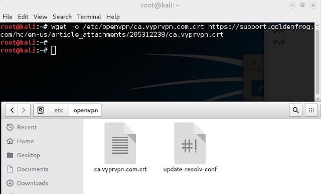 Comment Installer  un VPN sur Kali Linux