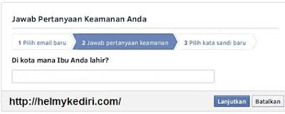 pertanyaan keamanan facebook