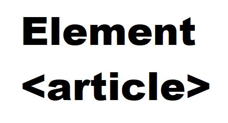 Apa Itu article Pada HTML