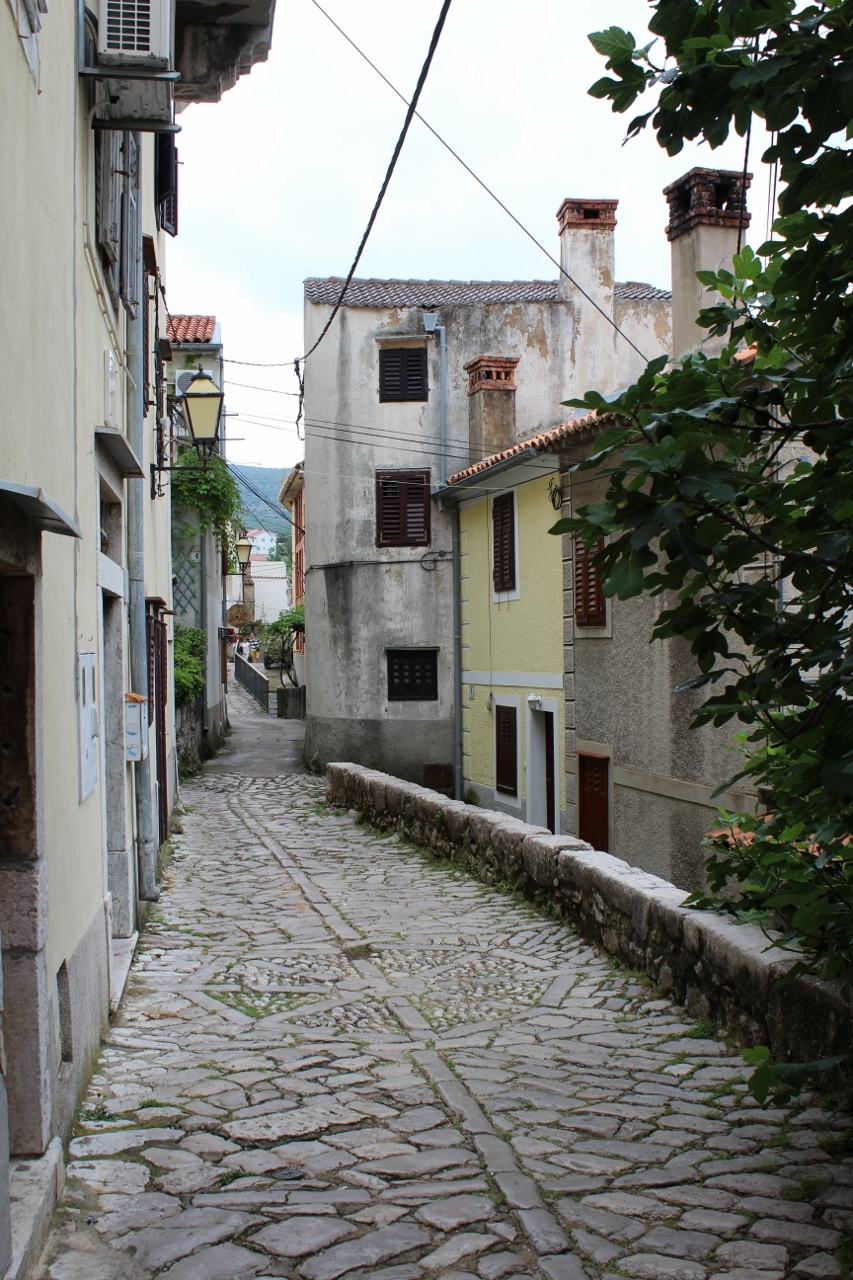 Narrow streets in Baška, Krk, Croatia