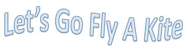 lets go fly a kite typography