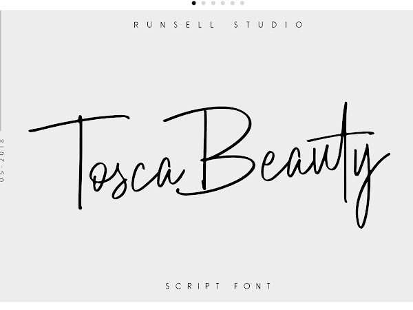 Tosca Beauty Handwritten Signature Font Free Download