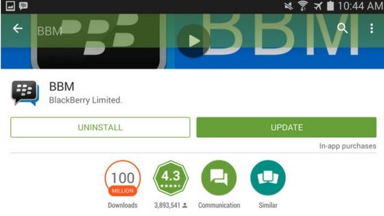 Sekarang nonton tv bisa pakai aplikasi BBM