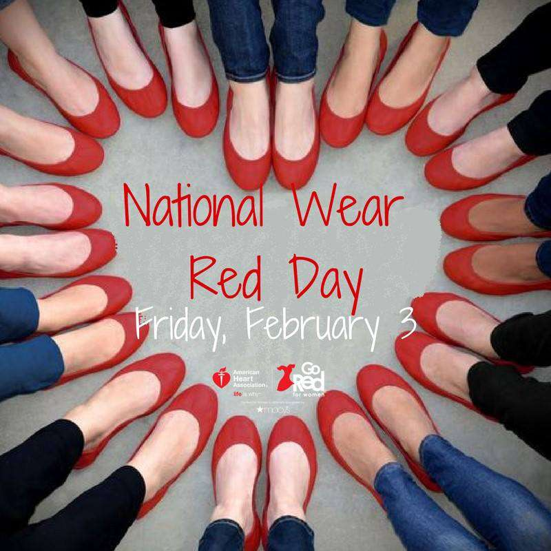 National Wear Red Day Wishes Images download