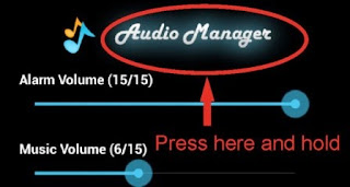 Long_Press Audio Manager