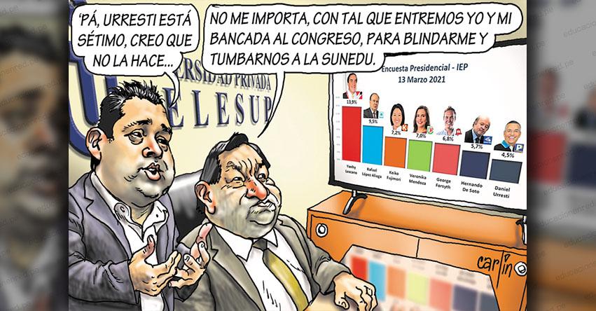 Carlincaturas Lunes 29 Marzo 2021 - La República