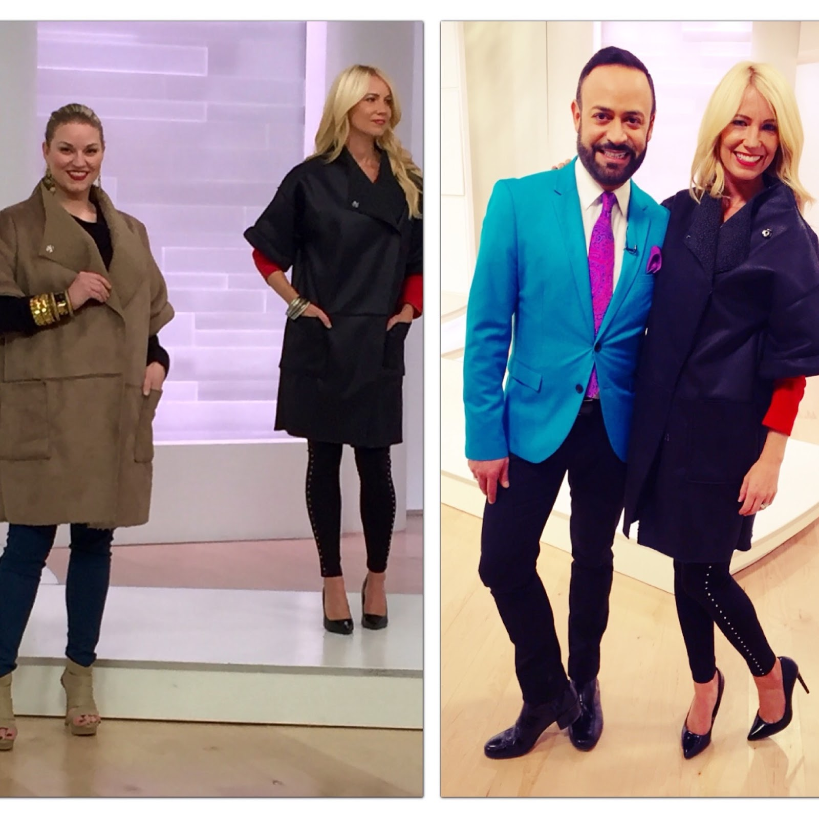 acd20864a4a1f Models wearing the NV Nick Verreos EVINE Live Faux Suede and Shearling