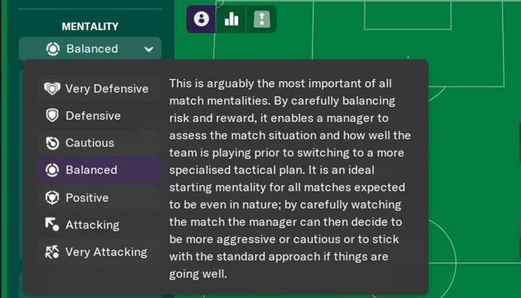 Mentality in Football Manager