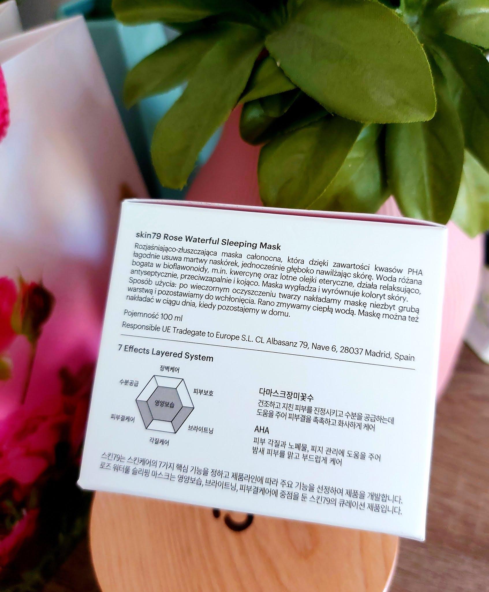 ROSE WATERFUL SLEEPING MASK - koreanska maska nawilzajaca o zapachu róży od Skin 79 Aneta Lason Beauty Talks