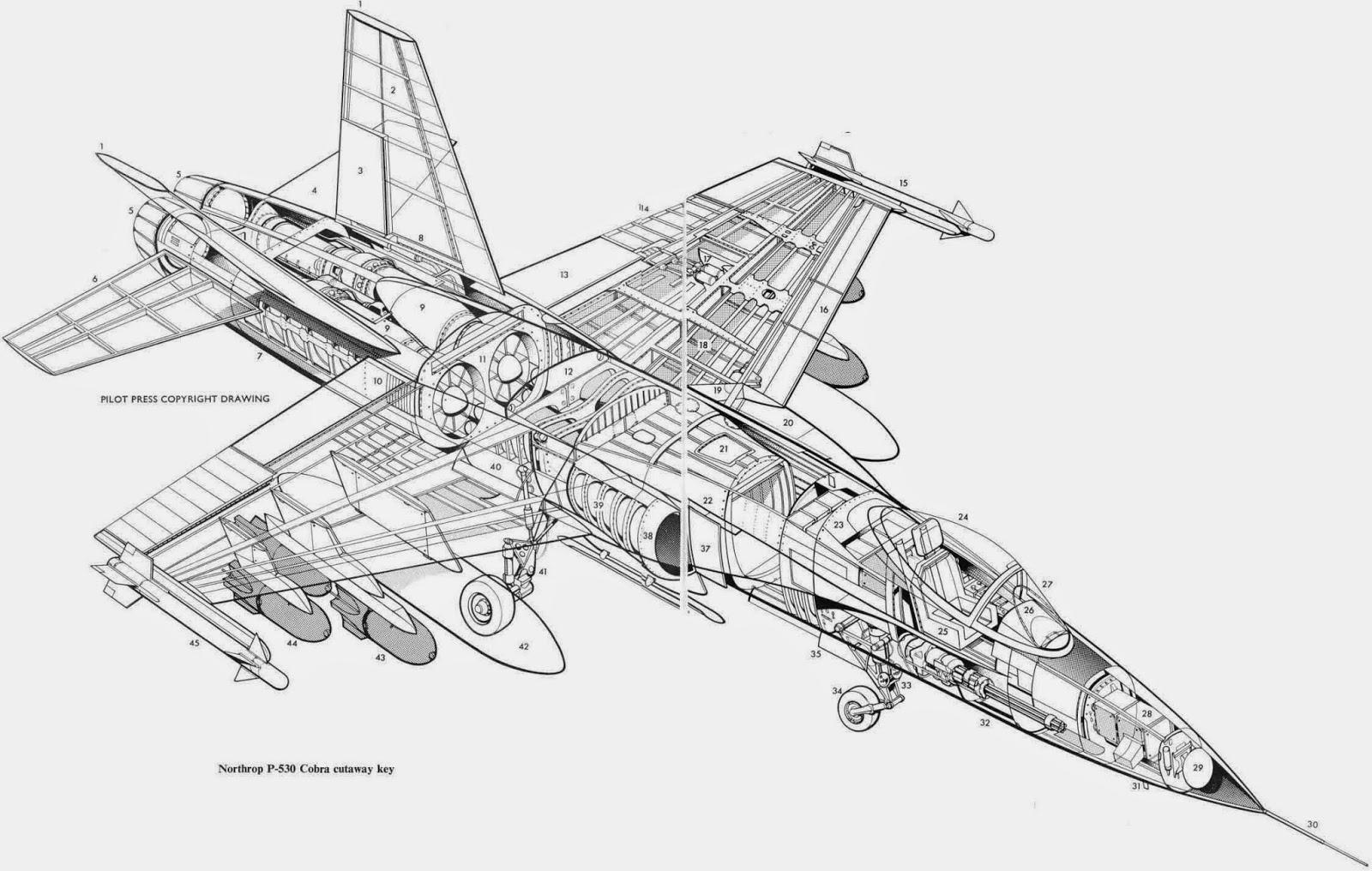 Aviones Caza Y De Ataque Northrop Yf 17 Cobra