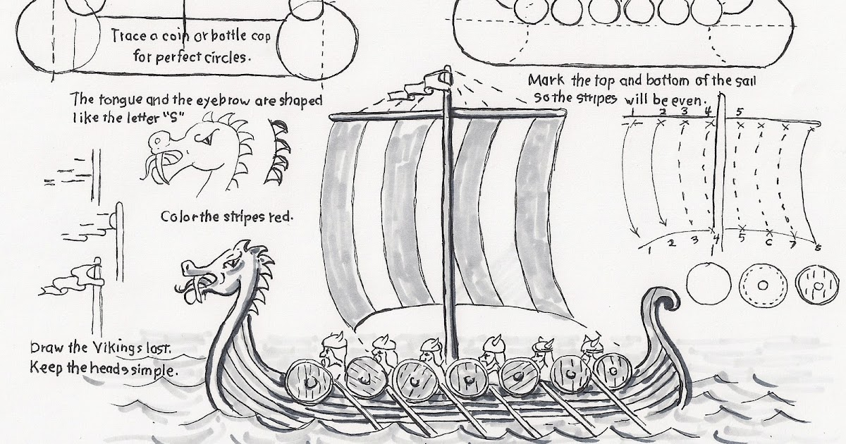 Printable Worksheets viking worksheets : How to Draw Worksheets for The Young Artist: How to Draw a Viking ...
