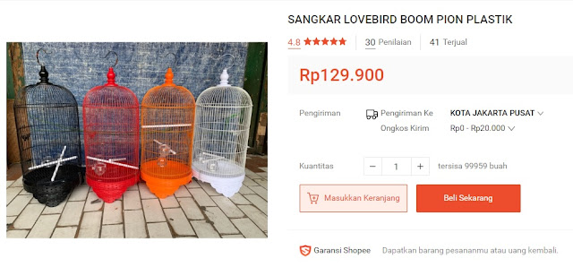sangkar lovebird boom