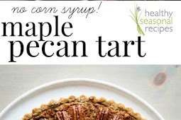 Pecan and dried cherry tart with maple