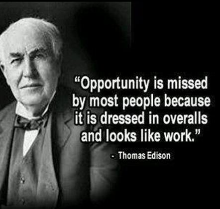 Famous quote by Thomas Edison