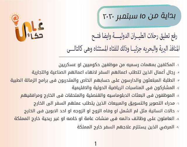 قرارات السفر الجديده الى السعودية 2020