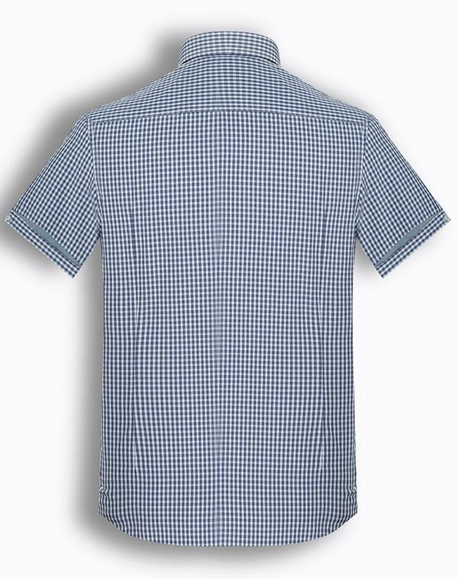 Áo sơ mi nam tay ngắn kẻ caro The Shirts Studio Hàn Quốc TD42F2113BL