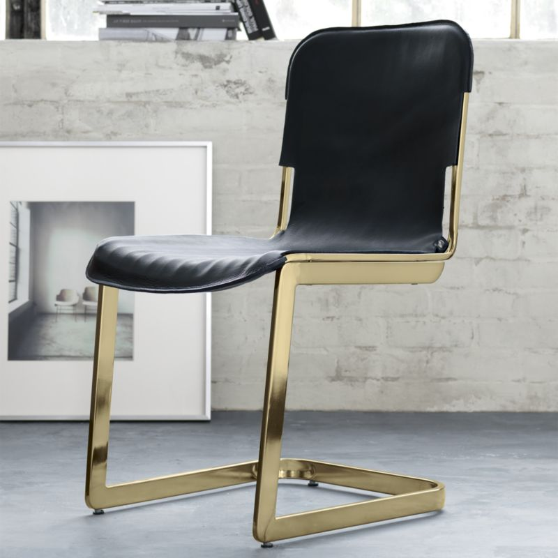 CS2 Gold Slingback Chair