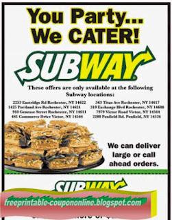 Free Printable Subway Coupons