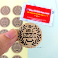 tem 100% tự nhiên dán đồ handmade, bánh kẹo