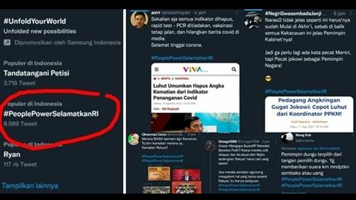 'People Power Selamatkan RI' Trending, Netizen: Pecat Jokowi sebagai Pemimpin Negara!