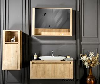bathroom vanity and medicine cabinet set