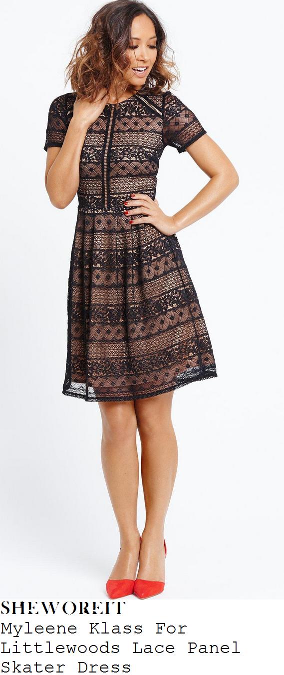 myleene-klass-for-littlewoods-black-lace-panel-skater-dress