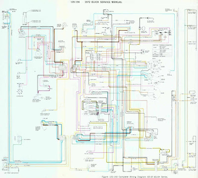 Buick 1972 Complete Wiring Diagram for 4D-4F-4G-4H Series All