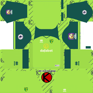 Norwich City FC 2019/2020 Kit - Dream League Soccer Kits
