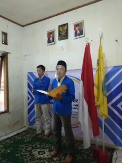 Pembacaan baiat dipimpin oleh ketua cabang didampingi ketua komi