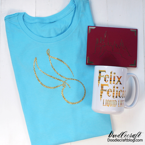 That's it! Three fabulous handmade gifts made with the Cricut! Which gift is your favorite? I love the mug! I'm so obsessed with mugs these days.  Any Harry Potter fan would love this thoughtful gift basket! Just add some hot drink mixes and you have the perfect Christmas present.