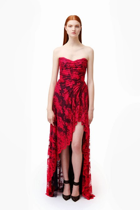 Elegance With A Dash of Daring - Monique Lhuillier Pre-Fall 2014