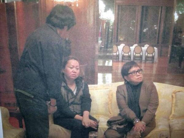 Janet Napoles inside Malacanang August 28, 2013