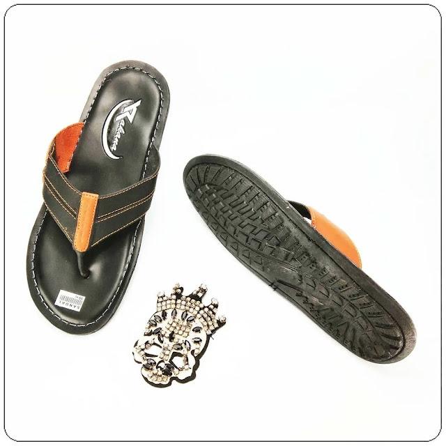 Grosir Sandal Imitasi Kulit   Sandal Rakana Sol Pria