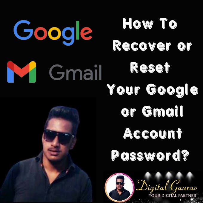 How to Easily recover Google account Password Or how to Recover Google account if i Forgot Password