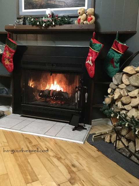 Relaxing By Our Fireplace