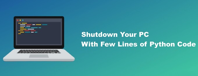 How To Shutdown PC using Python